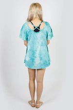 Winged Lotus Open Back Tie-Dye Tunic
