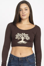 Spirit Animal Organic Long Sleeve Crop Top