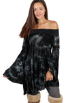 Off-the-shoulder Tiedye Mini Dress