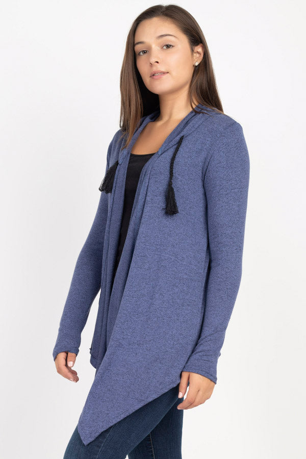 Terry Knit Outer with Hood