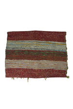 Handwoven Recycled Sari Runner Yoga Mat