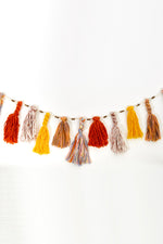 Tassel and Carved Bead Garland