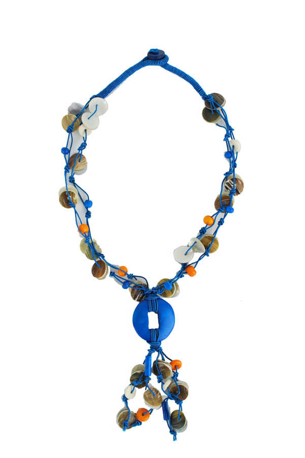 blue fashion constellation necklace-Blue-One size