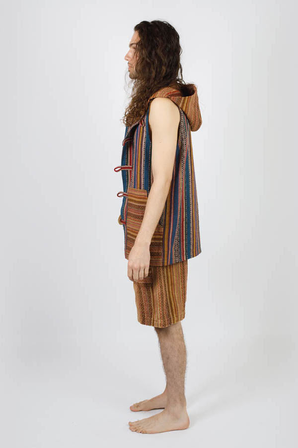 Hitchhiker Hippie Gheri Hooded Vest