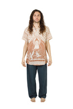 Men's Buddha Short Sleeve Kurta Shirt
