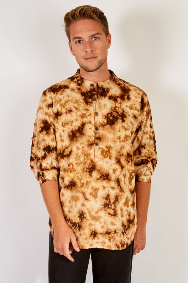 Splatter Tie Dye Cotton Long Sleeve Shirt