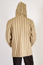Soft-washed Striped Cotton Zip Hoodie