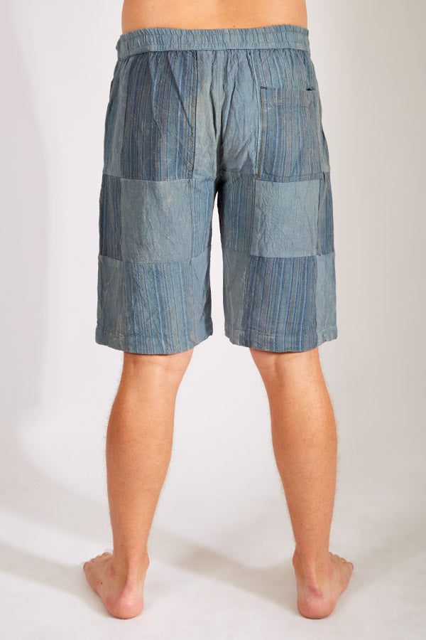 Men's Recycled Patchwork Cotton Shorts