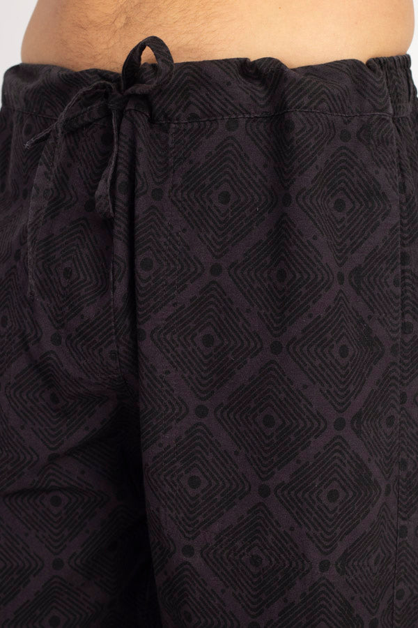 Diamond Print Men's Cotton Pants