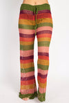 Crocheted Stripe Flare Beach Pants