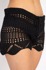 Crocheted Stripe Beach Shorts