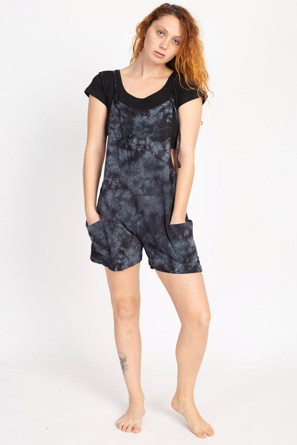 Easy Slouchy Hemp Tie-dye Shortalls