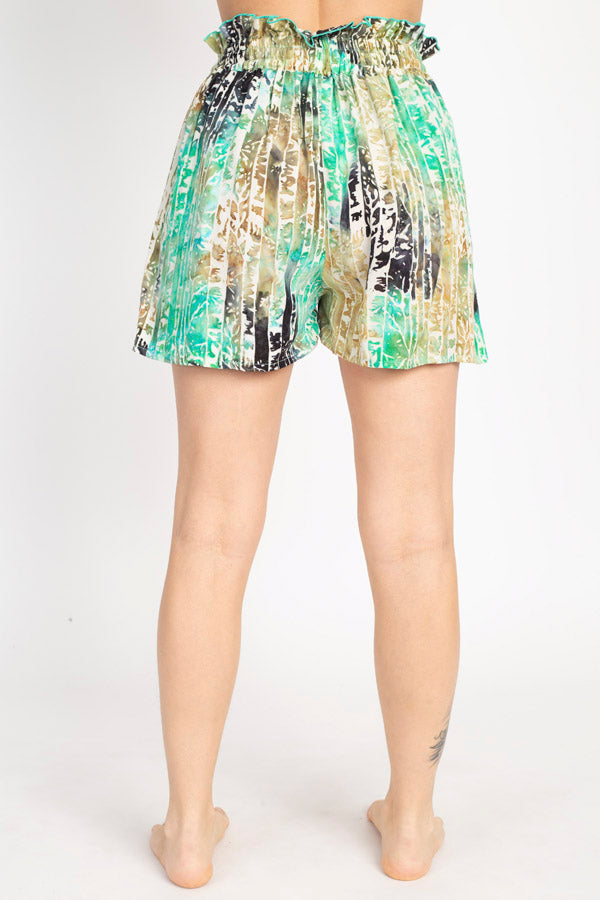 Forest Batik Summer Shorts