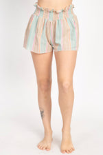 Cotton Stripe Shorts