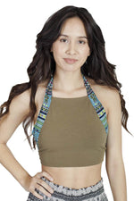 Old School Bohemian Halter Crop Beach Top