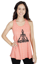 Balance Your Chakras Meditating Buddha Boho Tank Top