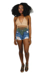 Netted Fringe Crochet Halter Top