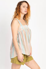 Easy Living Stripe Babydoll Tank