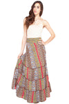 Summer Paisely Gypsy Wrap Skirt
