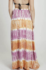 Women's Tie Dye Long Maxi Skirt