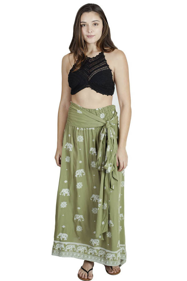 Beachy Boho Maxi Multiway Wrap Skirt and Dress in One