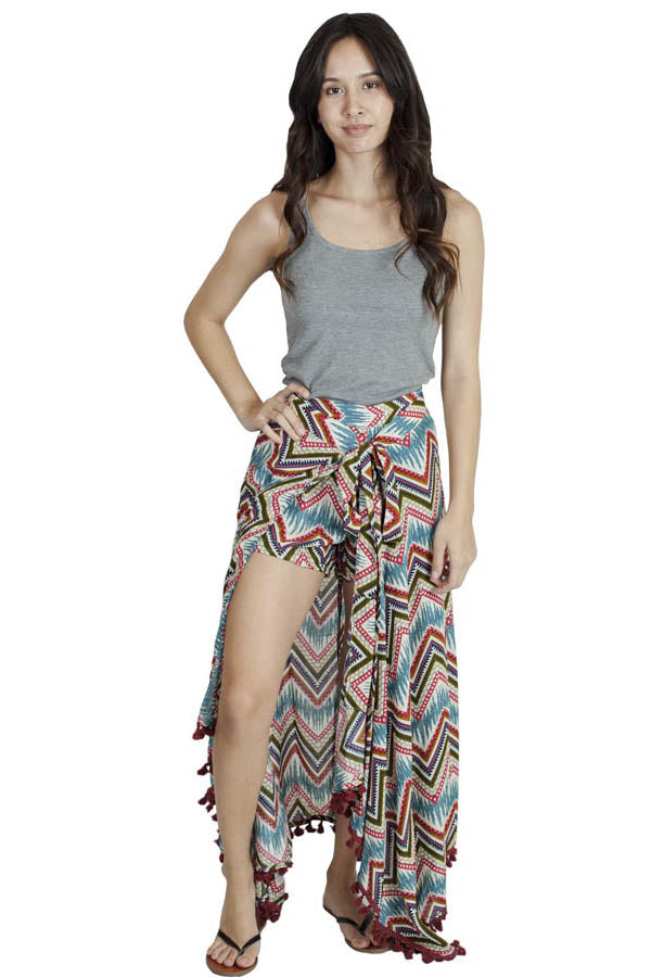 Beach Fairy Wrap Skirt Short