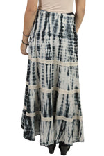 Women's Summer Cotton Tie Dye Gypsy Maxi Skirt