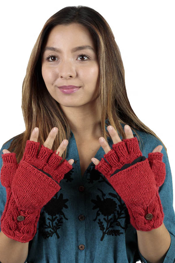 Winter Warm Classic knit glittens Fingerless gloves