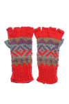 Winter Hand knit soft acrylic colorful fingerless handwarmer