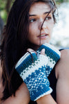 Hand Knit Fleece Lined Fingerless Gloves