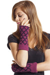 Two-Tone Diamond Pattern Wool Arm Warmer