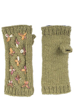 Tri-Color Cozy Fingerless Gloves