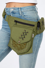 Cotton Practical Fannypack Waistbag Travel Utility Belt