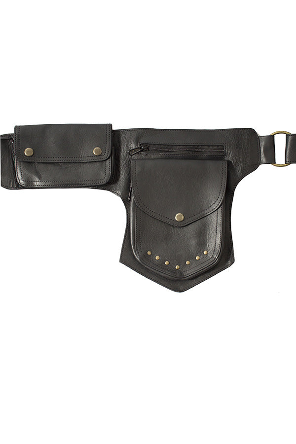 The Simple Ranger - A Leather Square Pack Hip Bag Belt