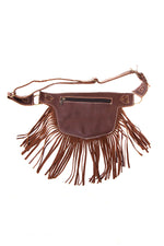 The Funky Fringe Traveler - A Leather Hip Bag Belt