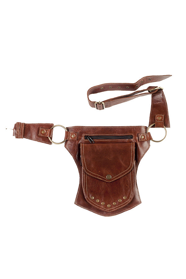 The unisex Traveller Pack - A Leather Hip  Utility Belt