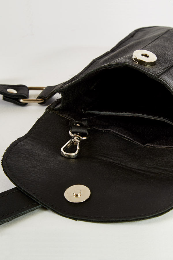 Black Leather Holster Shoulder Bag
