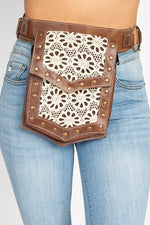 Leather and Lace Belt bag