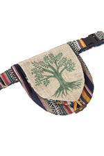 Rustic Stripe Hemp Belt bag