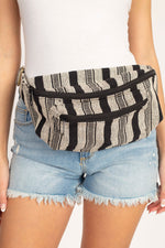 Rustic Stripe Oversize Fanny Pack