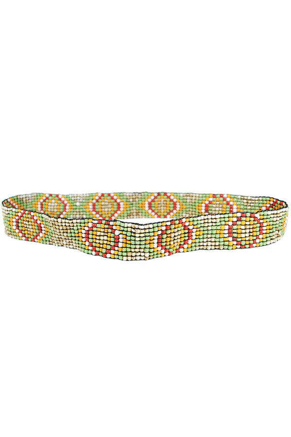 Stretchy beaded belt