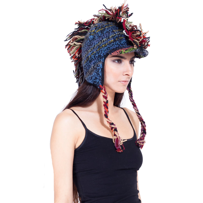 Mohawk hat with visor