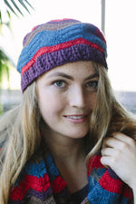 Groovey Stripes Funky Slouchy Beanie