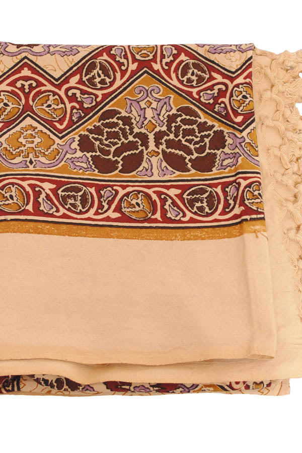 Artistic Design Cotton Tapestry Wall Hanging-Cream-OneSize