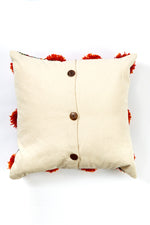 Pom Pom Rustic Stripe Throw Pillow