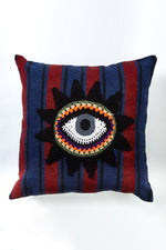 Hand Crocheted Third Eye Throw Pillow