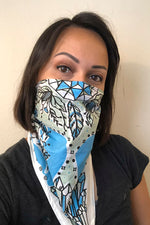 Cotton Boho Crystal Bandana