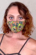 Lotus Print Face Mask