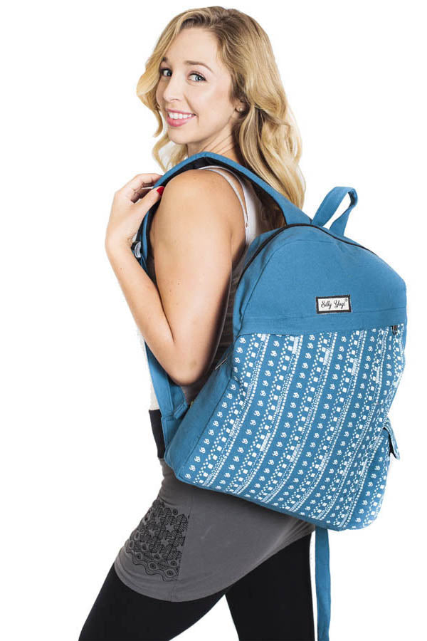 Funky Striped Om Backpack