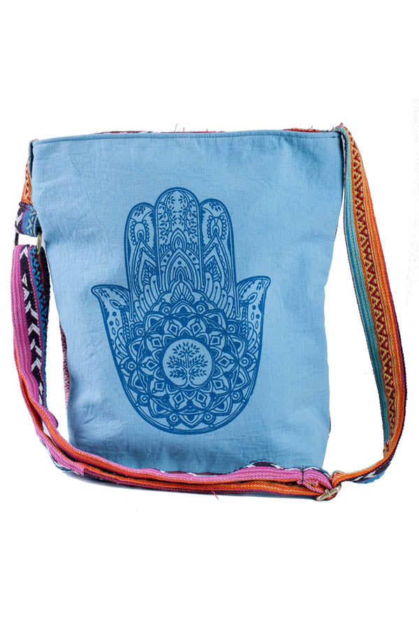 Tribal Prints Gheri Crossbody Bag-Blue
